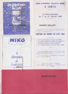 40 ---CONTIS--Cinéma Select Programme Festival De Cinema De L´Eté 1° Au 31 Juillet 1980 - Pubblicitari