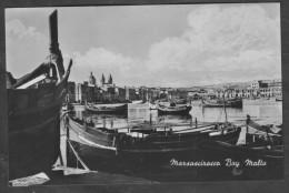 Old Malta Photo Postcard Circa 1960s Showing Marsascirocco Bay Marsaxlokk - Malte