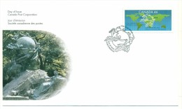 1999 Canada 125th Anniversary Universal Postal Union 46c First Day Cover - First Day Covers