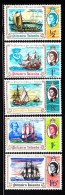 Pitcairn Islands MNH Scott #67-#71 Set Of 5 Ships - Bicentenary Of Discovery By Captain Carteret - Timbres