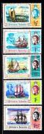 Pitcairn Islands MNH Scott #67-#71 Set Of 5 Ships - Bicentenary Of Discovery By Captain Carteret - Pitcairn