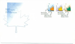 1998 Canada Maple Leaf Defiinitives First Day Cover - First Day Covers