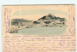 PORQUEROLLES - Une Vue Du Port Colorisée - Carte Précurseur  - 2 Scans - Porquerolles