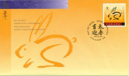 1999 Canada Year Of The Rabbit 46 C First Day Cover - 1991-2000