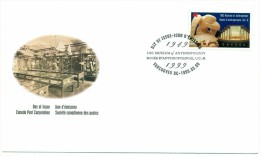 1999 Canada UBC Museum Of Anthropology  46c First Day Cover - First Day Covers