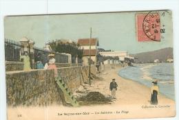 SEYNE Sur MER - SABLETTES LES BAINS - La PLAGE Animée Et Colorisée - 2 Scans - La Seyne-sur-Mer