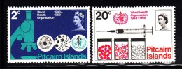 Pitcairn Islands MNH Scott #95-#96 Set Of 2 20th Anniversary WHO - Timbres