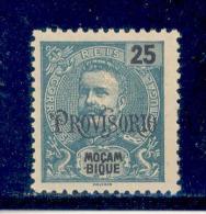Mozambique - 1902 D. Carlos W/OVP Provisorio 25 R - Af. 91 - MH - Mozambique