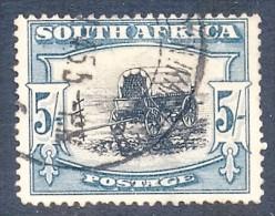 South Africa 1933. 5sh Black And Blue-green. SACC 62a, SG 64b. - Gebruikt
