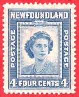 Canada Newfoundland # 269 -  4 Cents - Mint N/H F/VF - Dated  1946 - Princess Elizabeth  / Princesse Elizabeth - Newfoundland