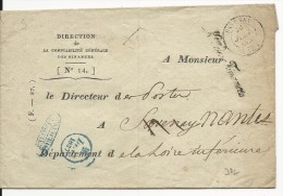 1837 - LOIRE INFERIEURE - ENVELOPPE EN FRANCHISE COMPTABILITE DES FINANCES Pour SAVENAY REEXPEDIEE à NANTES - 1801-1848: Precursori XIX