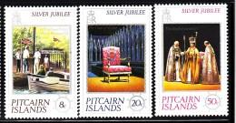 Pitcairn Islands MNH Scott #160-#162 Set Of 3 25th Anniversary Reign Of Queen Elizabeth II - Timbres