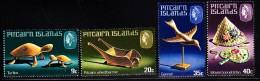 Pitcairn Islands MNH Scott #194-#197 Set Of 4 Handicrafts - Turtle, Wheelbarrow, Bird, Bonnet And Fan - Timbres