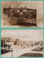 CAMP DE PRISONNIERS ELLWANGEN - 2 CARTES PHOTOS 1917 - 2 SCANS - Guerre 1914-18