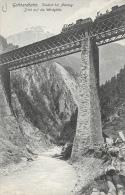 Gottardbahn (Switzerland-Suisse) - Viaduct Bei Amsteg - Blick Auf Die Windgälle - Ed. E. Goetz - Carte Non Circulée - Ouvrages D'Art