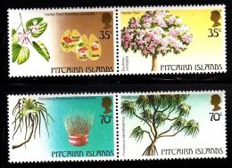 Pitcairn Islands MNH Scott #229-#230 Set Of 2 Pairs - Local Trees: Pandanus, Hattie - Timbres
