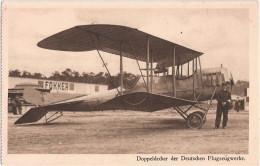 Flugzeug Doppeldecker Deutsche Flugzeugwerke Aviateur Leipzig Lindenthal Vor FOKKER Hangar Avion 5.9.1815 Feldpost - 1914-1918: 1. Weltkrieg