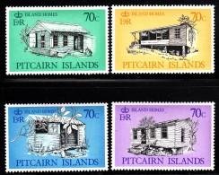 Pitcairn Islands MNH Scott #285-#288 Set Of 4 Island Houses - Pitcairn