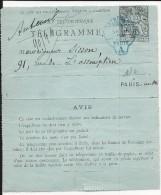 1891 - CHAPLAIN - CARTE-LETTRE ENTIER POSTAL PNEUMATIQUE De PARIS Avec RARE CACHET Du GRAND HOTEL