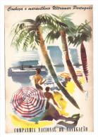 "Folheto Publicitario CCN Companhia Colonial De Navegação ""Conheça O Ultramar..."". Vintage SHIP Advert. Leaflet PORTUGAL - Billets D'embarquement De Bateau"