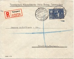 Finlande Lettre Pour L'Angleterre 1936 - Covers & Documents