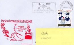 """Frégate """" CHEVALIER PAUL """" Par Les CHENAUX DE PATAGONIE -Flamme Illustrée PARIS TRI INTERARMEES 10/06/2010 Sur TP MARINS - Postmark Collection (Covers)"""