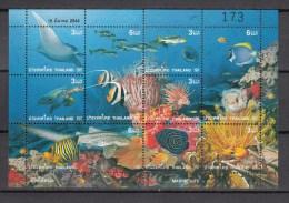 Thailand 2001,8V In Block,marine,fish,vissen,fische,poissons,peche,peces,pesce,MNH/Postfris(L2037) - Vissen