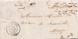 1856 LETTRE. ECRITE DE RACHECOURT. HAUTE MARNE. T15 CHEVILLON / 2234 - 1849-1876: Periodo Classico