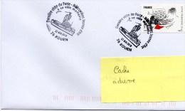 """DERNIERE VISITE DU P.H. """" JEANNE D'ARC """" A ROUEN SA VILLE MARRAINE 22/05/2010 - Poststempel (Briefe)"""