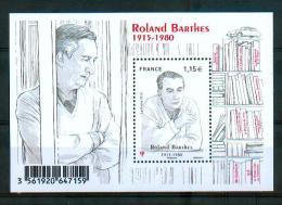 France 2015 - Roland Barthes, Philosophe Français / French Philosopher - MNH - Ecrivains