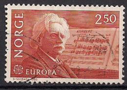 Norwegen  (1983)  Mi.Nr.  885  Gest. / Used  (ej65)  EUROPA - Norwegen