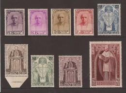 N�342/350 *, Cardinal Mercier neuf avec charni�re. COB 575 eur  Certificat Balasse