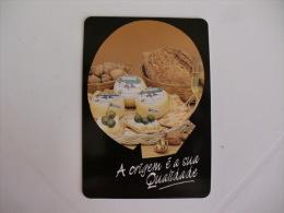 Cheese Fromage Queijo Saloio Portugal Portuguese Pocket Calendar 1992 - Calendari