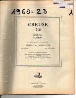 ANNUAIRE - 23 - Département Creuse - Année 1960 - édition Didot-Bottin - Plan De Guéret - Telefoonboeken