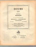 ANNUAIRE - 25 - Département Doubs - Année 1961 - édition Didot-Bottin - Plan De Besancon - Annuaires Téléphoniques