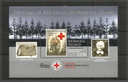 ÎLE NORFOLK. Centenaire De La Croix-Rouge à L'île Norfolk. Un Bloc-feuillet Neuf **, Année 2014 - Croce Rossa