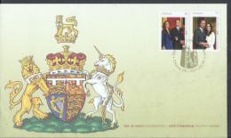 Canada 2011 FDC Royal Wedding Catherine Middleton Prince William Value $6.75 - Omslagen Van De Eerste Dagen (FDC)