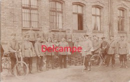 Foto Czestochowa Tschenstochau Polen Deutsche Soldaten Fahrrad Ziegelofen 1.Weltkrieg 1914 - Polen