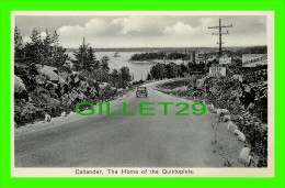 CALLANDER, ONTARIO - THE HOME OF THE QUINTUPLETS - GREEN ROAD CABINS - OLD CAR - EVANS & BOWMAN - - Ontario