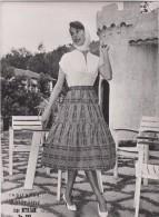 Photographie - Mode - Indiennes Valdrôme - Jupe Myriam - Format 17.3 X 12.3 Cm (Femme, Pin-up) - Pin-Ups