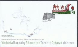 Canada 2007 FDC Fifa U-20 World Cup Canada, WORLD YOUTH  SOCCER CHAMPIONS - Omslagen Van De Eerste Dagen (FDC)