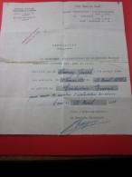 1933 Sté A. TITRE De Transport Voiture Automobile André Citroën 143 Quai De Javel Certificat Travail Conducteur Receveur - Other