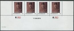 ÖSTERREICH / PM Nr. 8115944 / 4er Streifen Mit Nummer / Major Rudolf Graf Van Der Straten-Ponthoz / Postfrisch / **