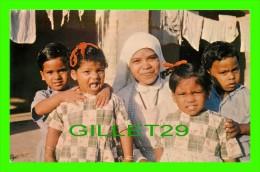 INDE - SOEUR MARIA VIENT SEMER LA PAIX & JOIE - OEUVRE MISSIONNAIRE DES ENFANTS - CIRCULÉE EN 1975 - - Inde