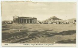 ATENE TEMPLE DE THESEE ET LE LYCABETE VIAGGIATA FP - Grecia