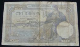 YUGOSLAVIA KINGDOM 100 DINARA 1929 VF, WATERMARK ALEXANDER I. - Joegoslavië