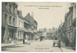 CPA Lillers, Rue Nationale  Edition Fauchois Bethune Pharmaçie Paylle - Lillers