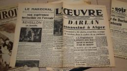 L'oeuvre 26-27 Decembre 1942  - Fac Simile N° 49 - Livres Parlés
