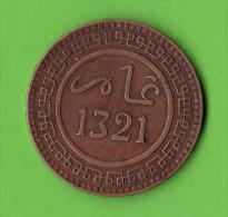 MAROC / 10 MOUZOUNAS / 1321 AH - BERLIN / TRES BEL ETAT - Marruecos