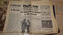 Paris Soir - 28/12/1942   -Le Meutrier De Darlan A été éxécuté  -fac Simile N° 52 - Livres Parlés
